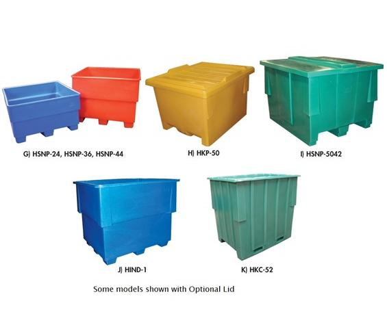 SEAMLESS PLASTIC PALLET CONTAINER LIDS